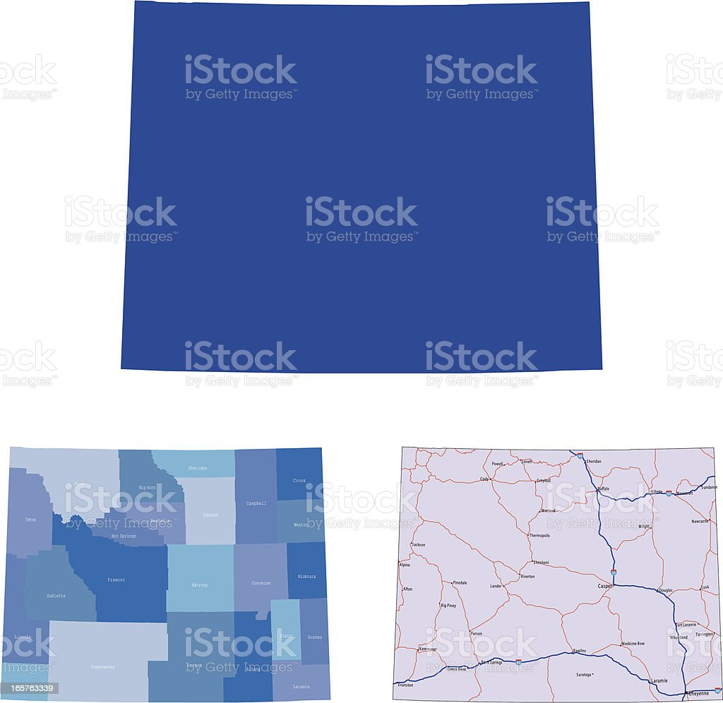 Wyoming royalty-free stock vector art