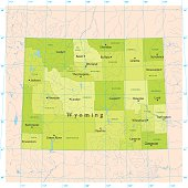 Wyoming Vector Map