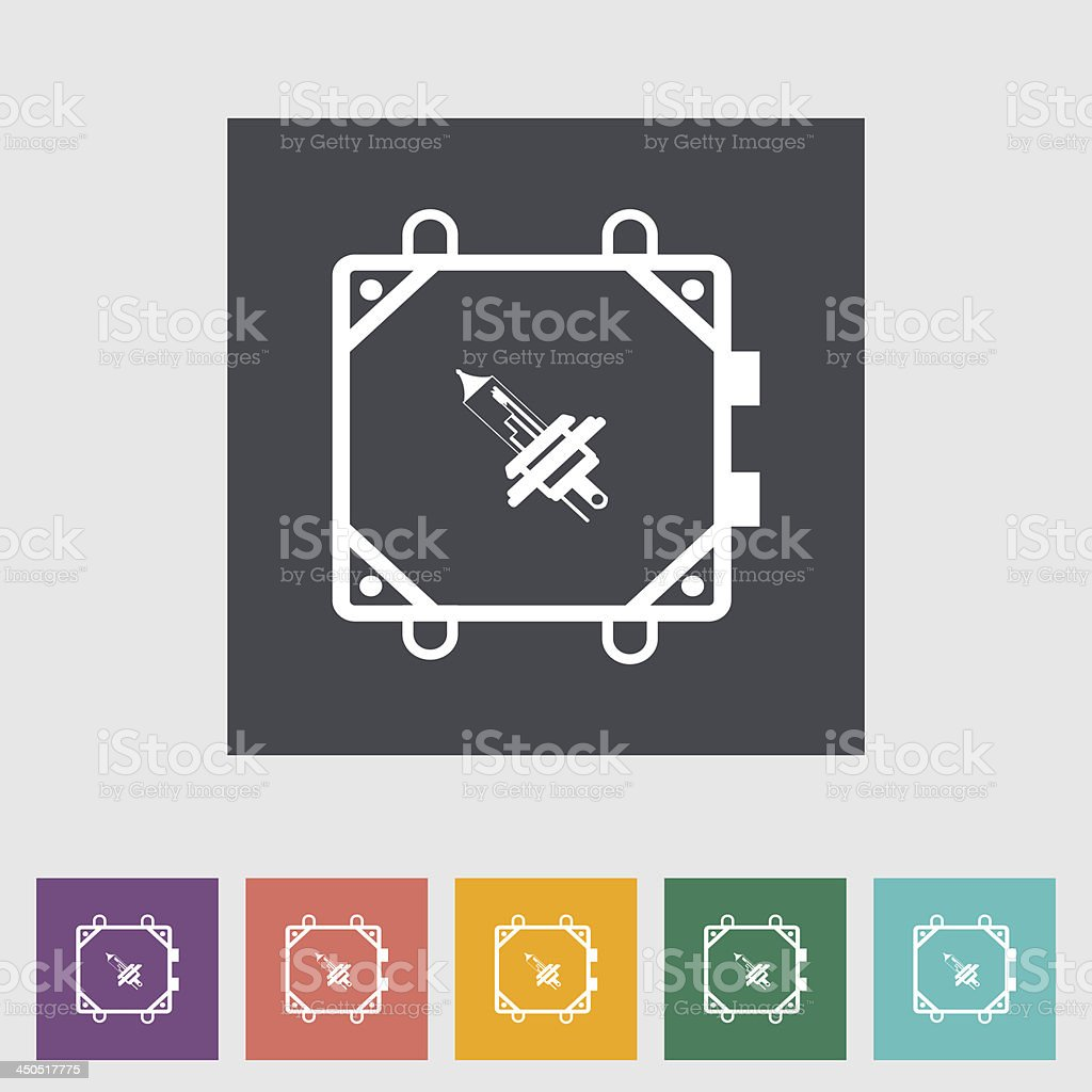 Xenon car lamp flat icon royalty-free stock vector art