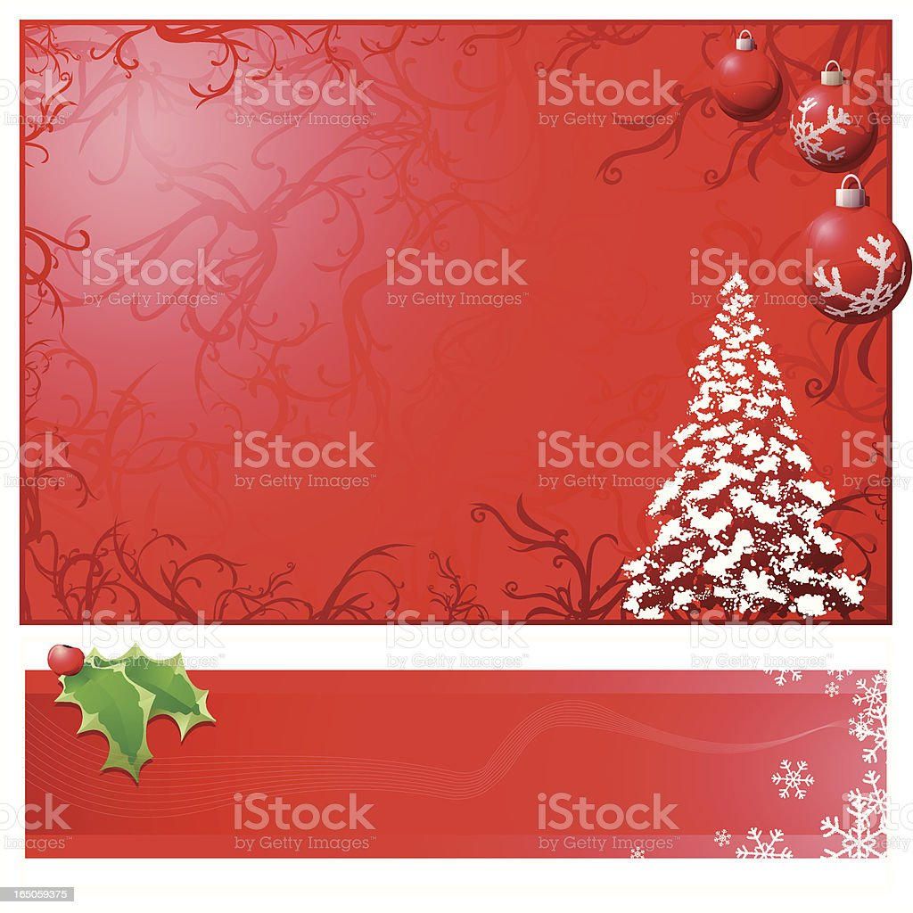 Xmas Background and Banner set : RED vector art illustration