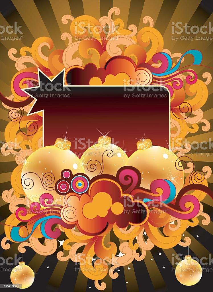 xMas balls with copyspace vector art illustration