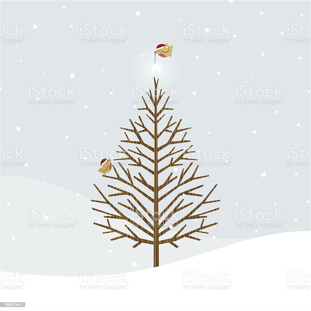 Xmas birds royalty-free stock vector art