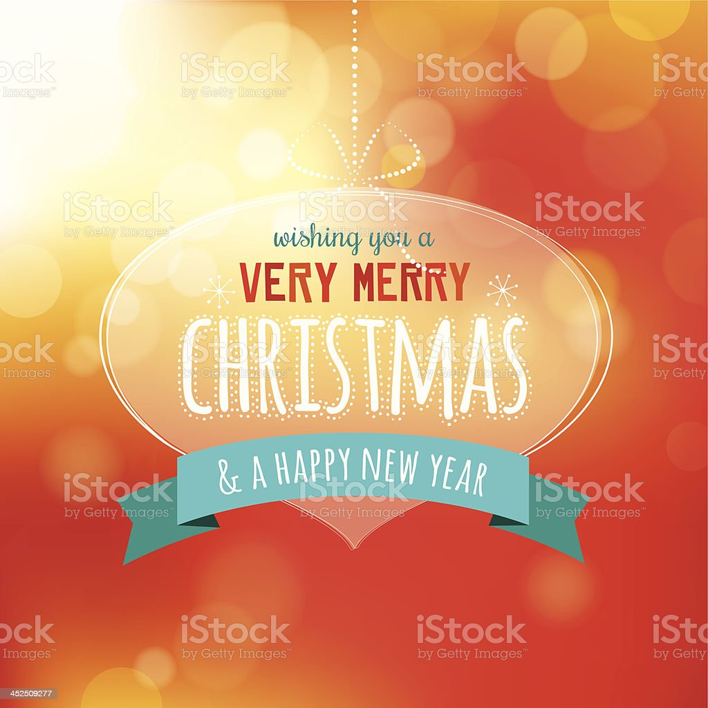 Xmas decoration with text royalty-free stock vector art