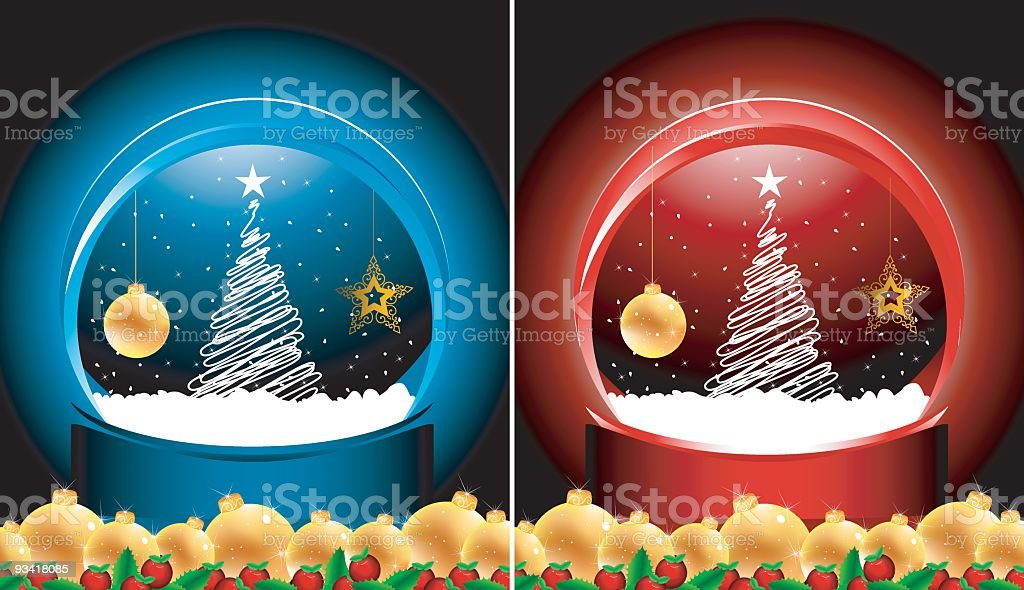 xMas design in 2 color options royalty-free stock vector art