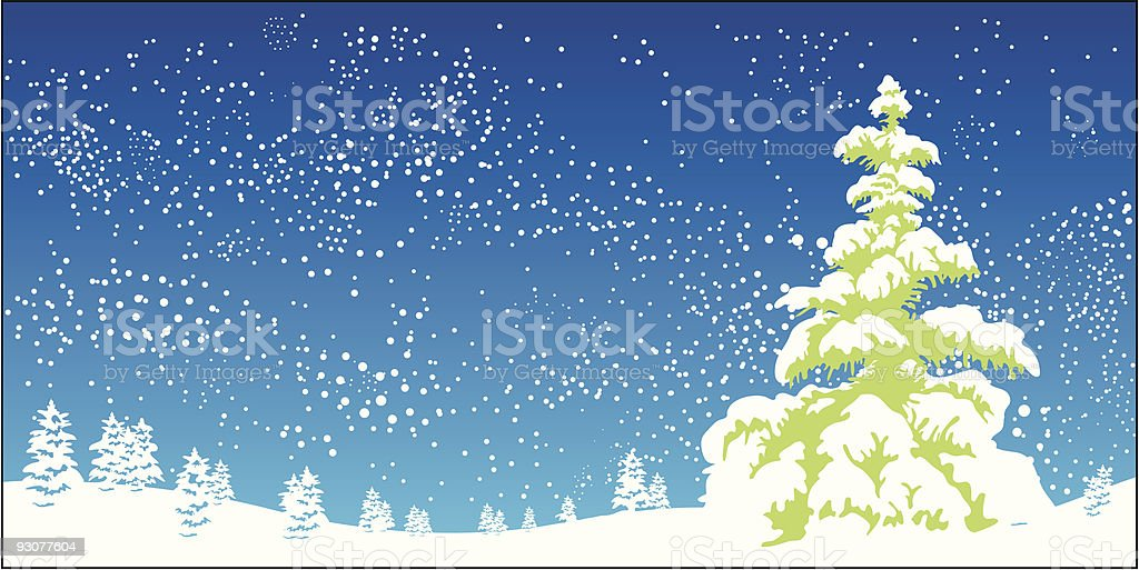 xmas forest royalty-free stock vector art