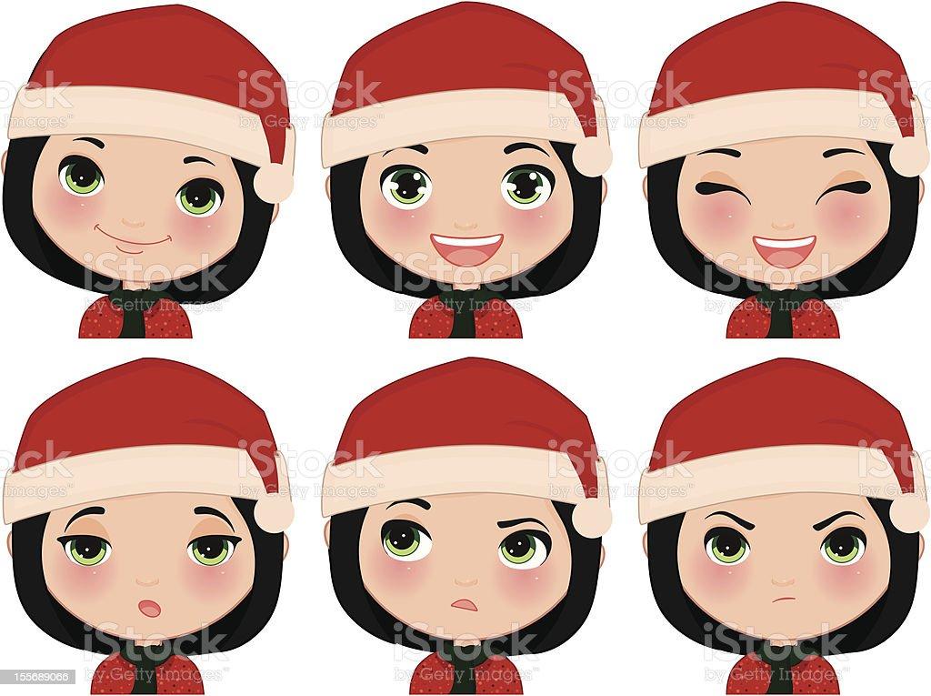 Chica Navidad-expresiones illustracion libre de derechos libre de derechos