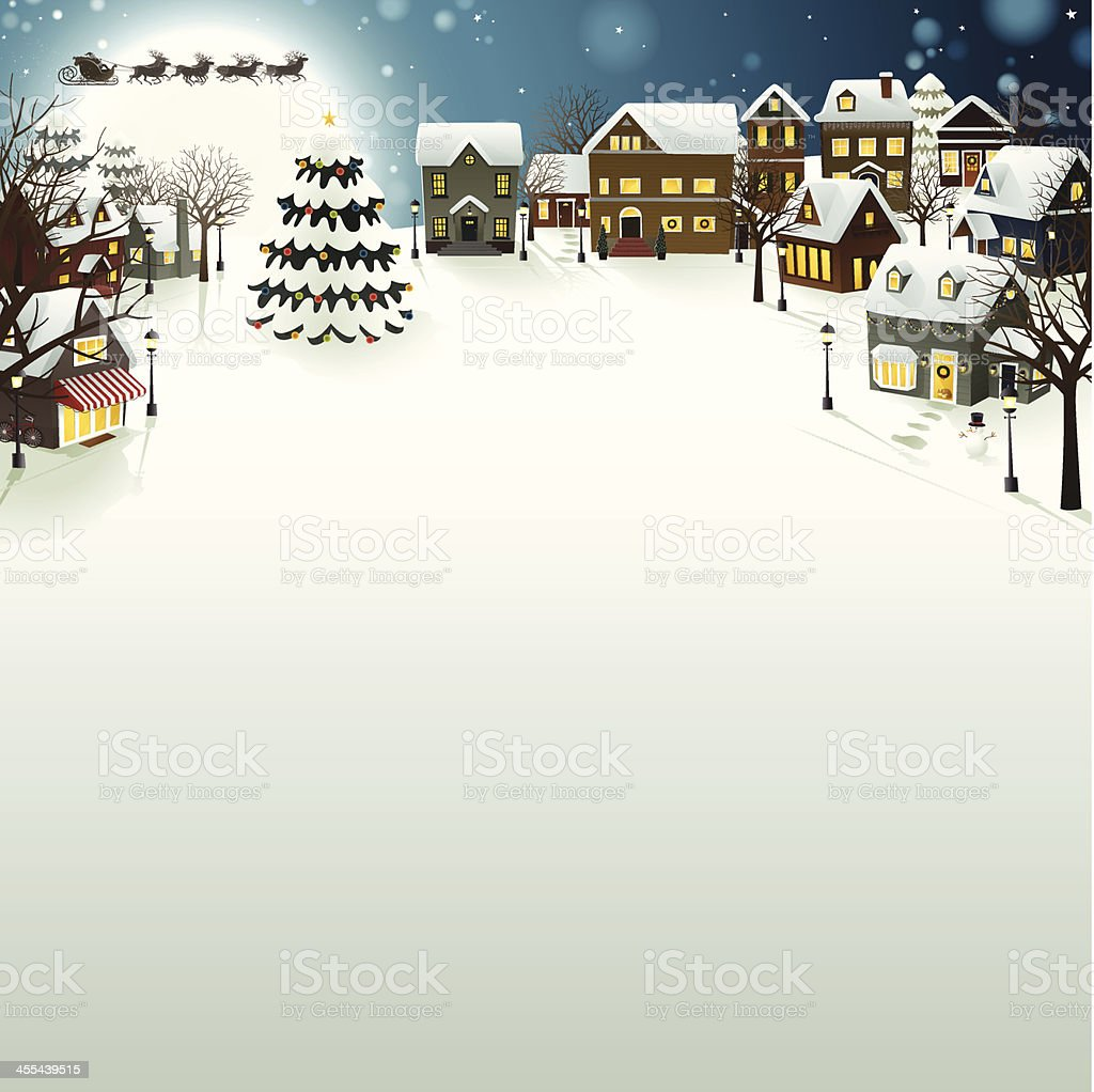 Xmas Night - EPS8. vector art illustration