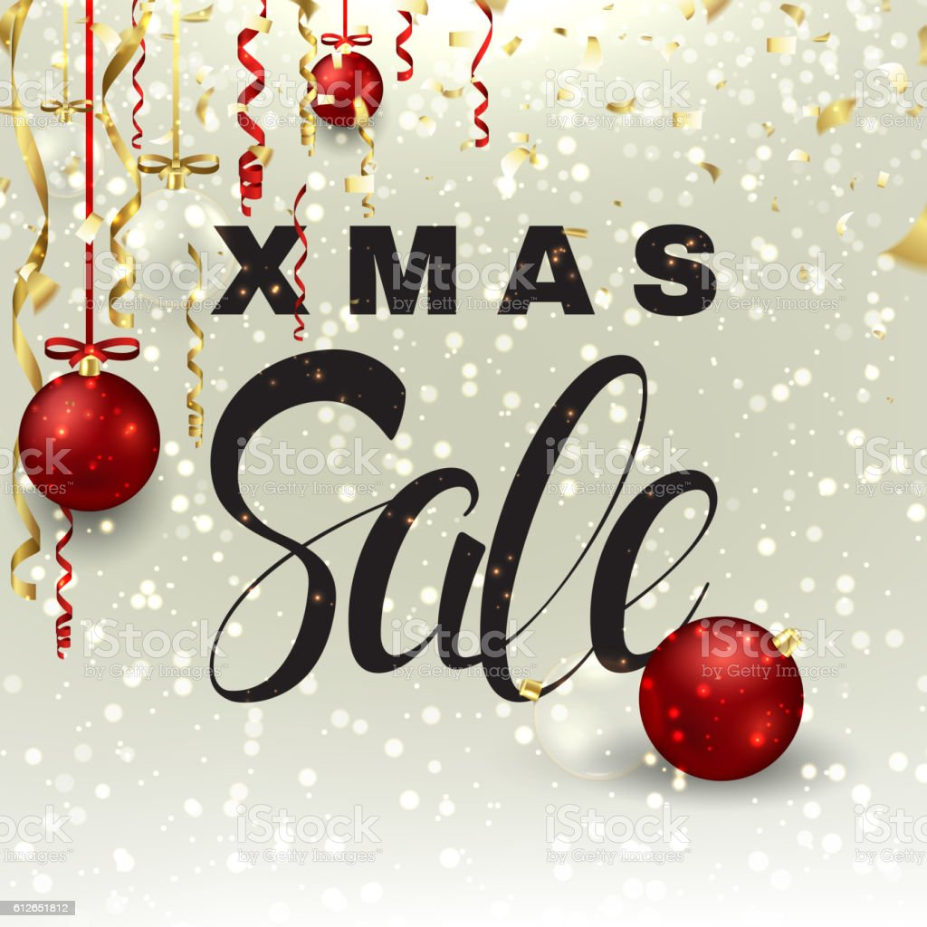 Xmas sale background with serpentine royalty-free stock vector art