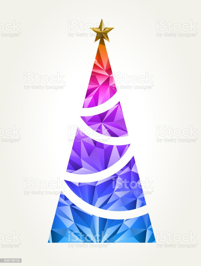 Xmas tree vector art illustration
