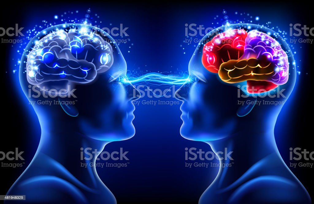 X-ray brain connect royalty-free stock vector art