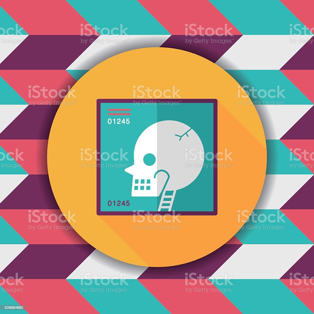 xray flat icon with long shadow vector art illustration