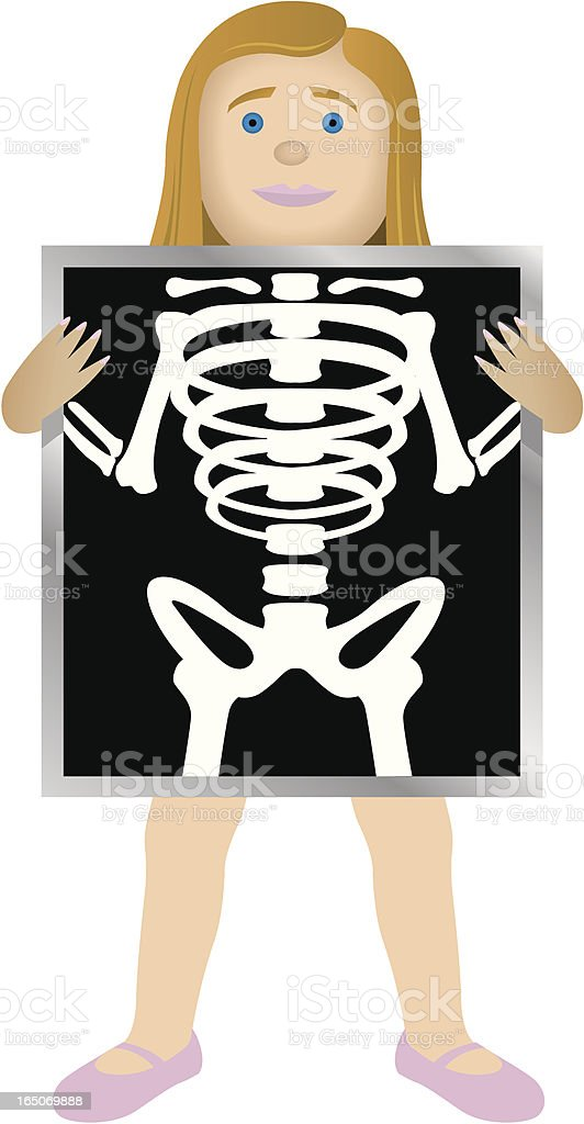 X-Ray Girl royalty-free stock vector art