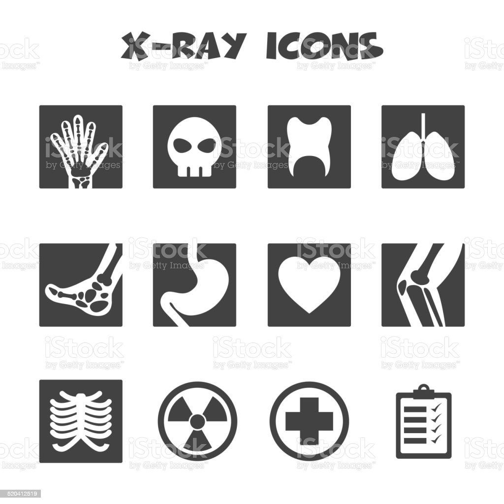 x-ray icons vector art illustration