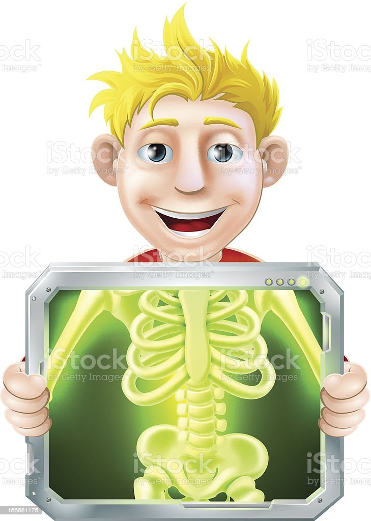 X-Ray Illustration royalty-free stock vector art