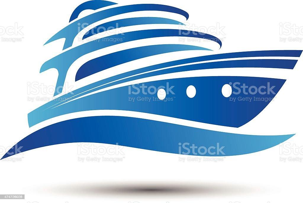 Yacht boat vector art illustration