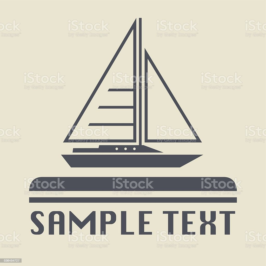 Yacht icon or sign vector art illustration