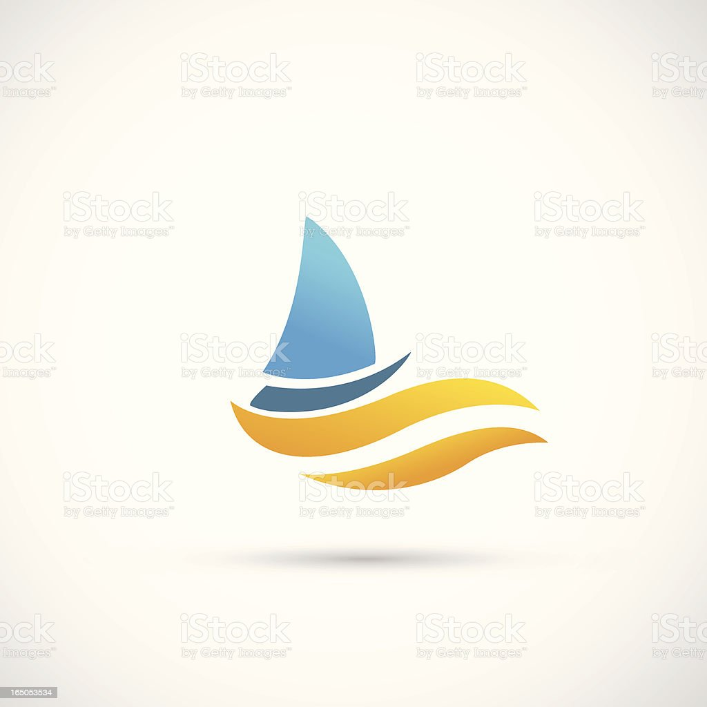 Yacht Icon vector art illustration
