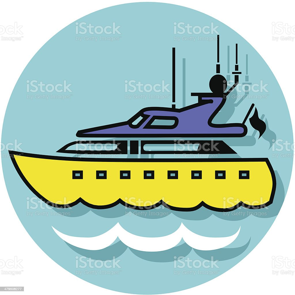 yacht icon royalty-free stock vector art