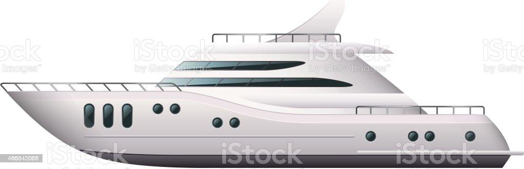 Yacht isolated on white vector vector art illustration