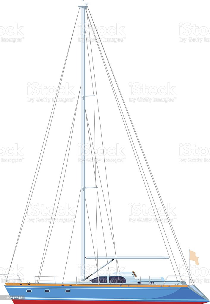 yacht side view royalty-free stock vector art