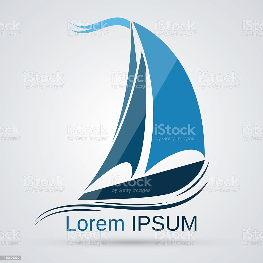 Yacht vector icon vector art illustration