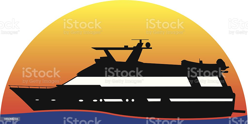 Yacht royalty-free stock vector art
