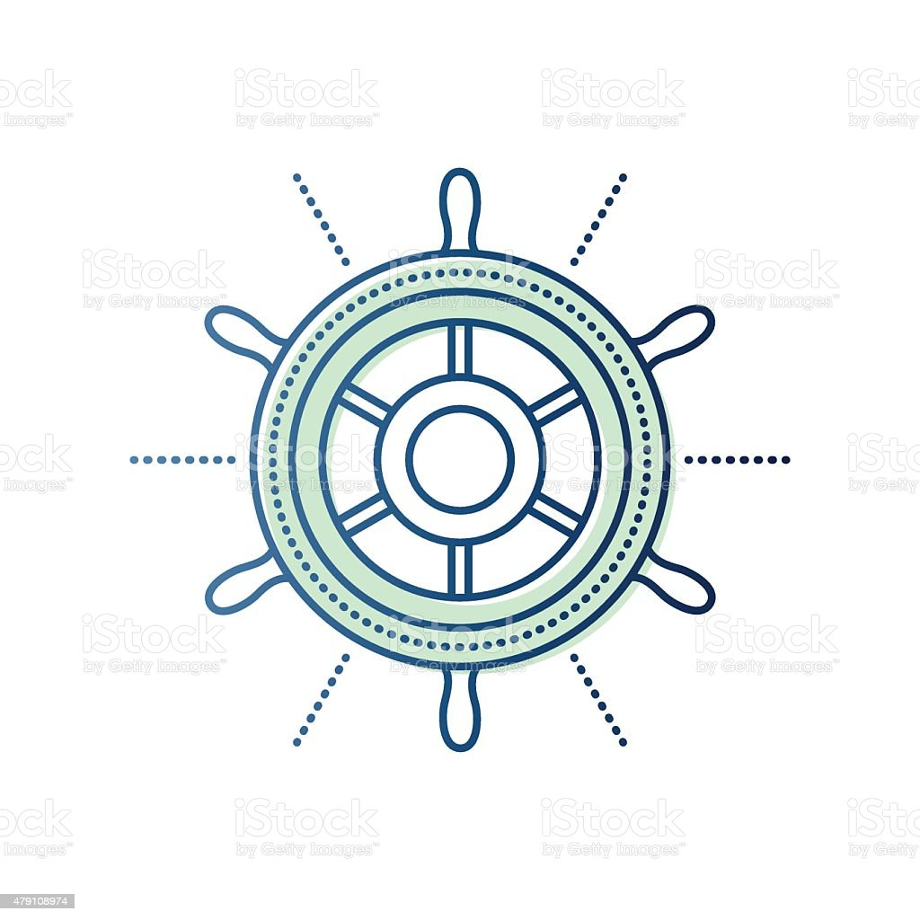 Yachting and Sailing vector art illustration