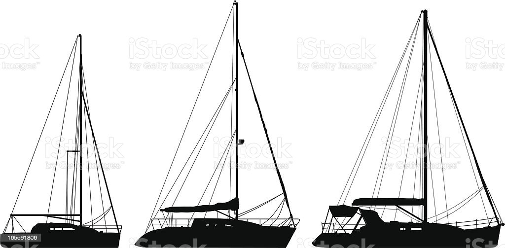 Yachts royalty-free stock vector art