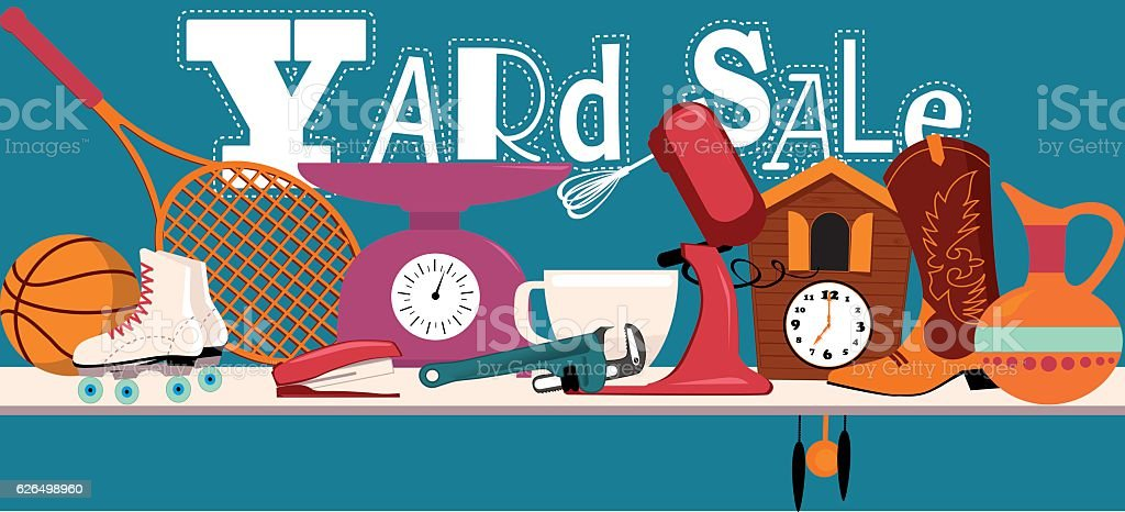 Yard Sale Banner vector art illustration