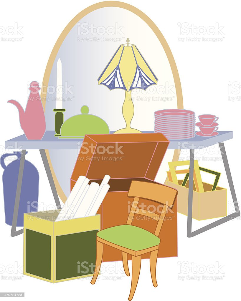 Yard Sale vector art illustration