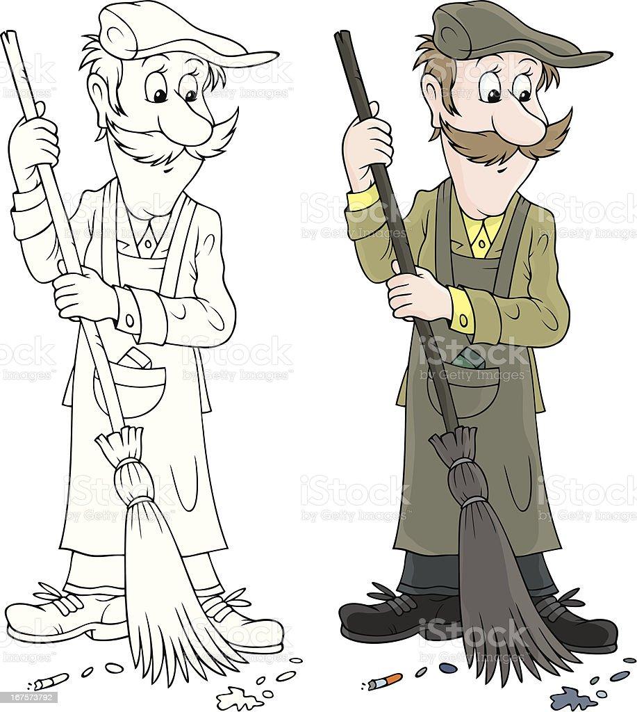 Yardman vector art illustration