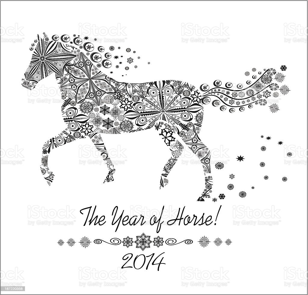 Year of horse. royalty-free stock vector art