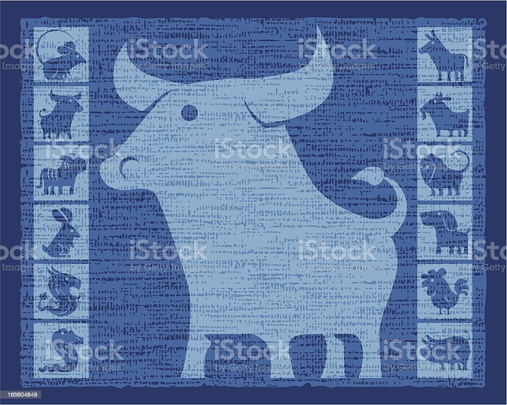 year of ox royalty-free stock vector art