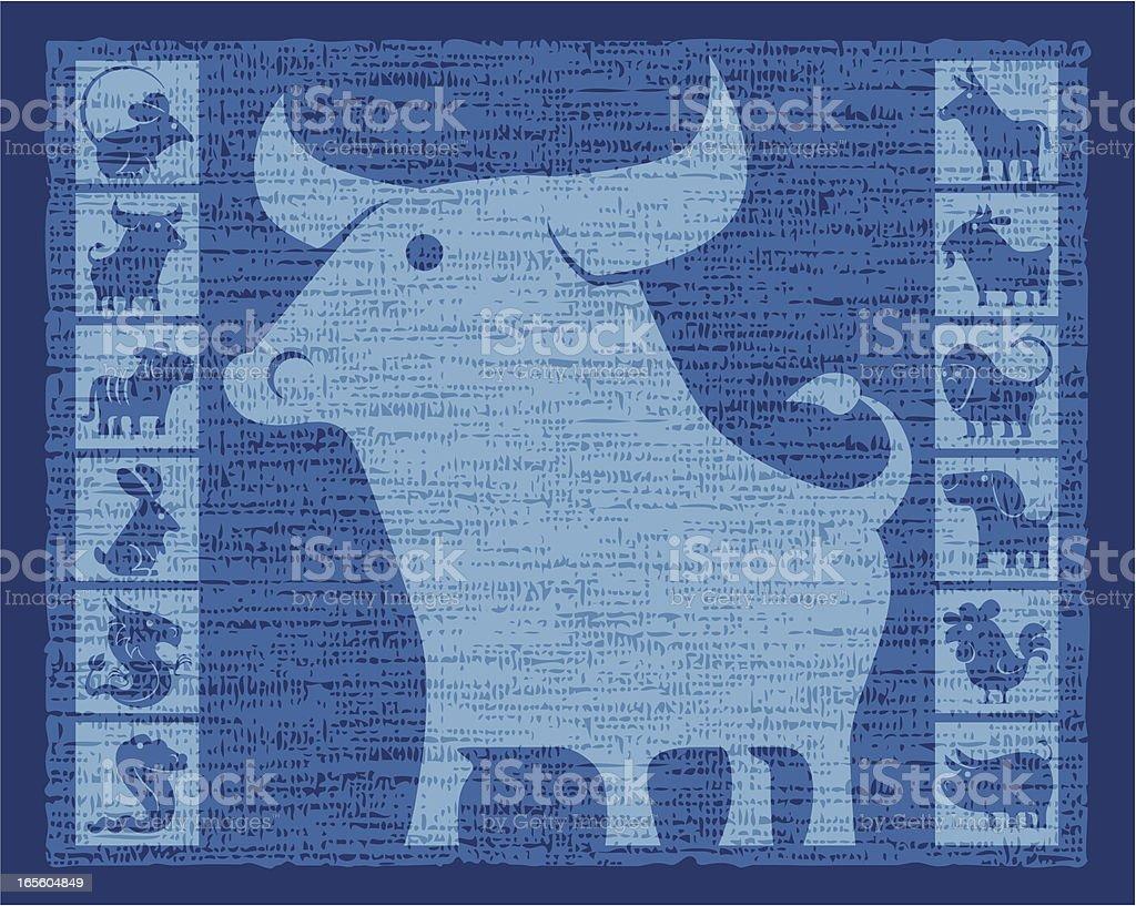 year of ox vector art illustration