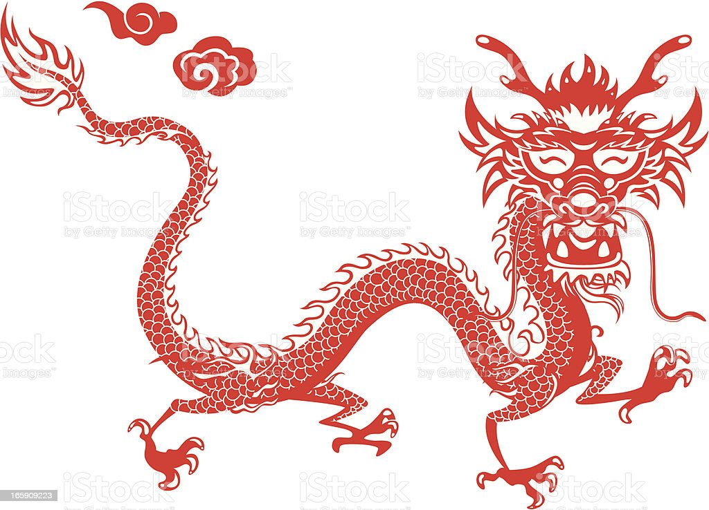 Year of the Dragon royalty-free stock vector art