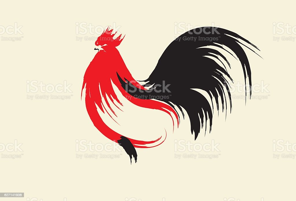 Year of the Rooster, Chinese New Year vector art illustration