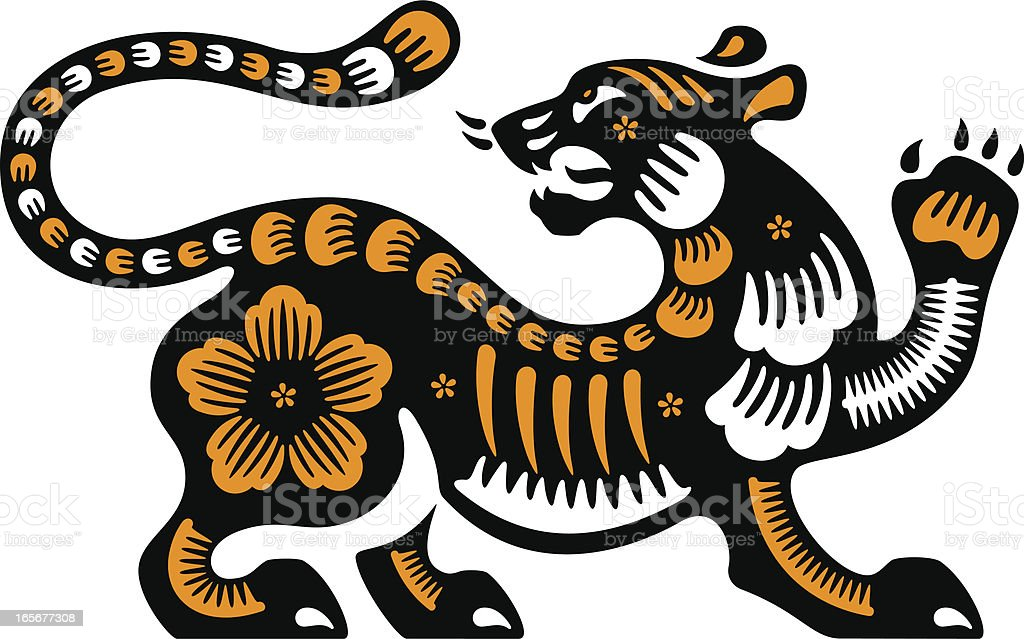Year of the Tiger 2010 royalty-free stock vector art