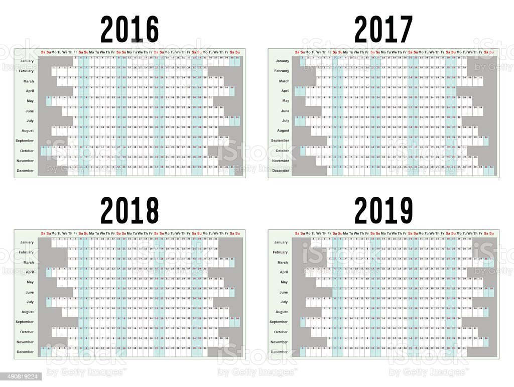 Year Planners vector art illustration