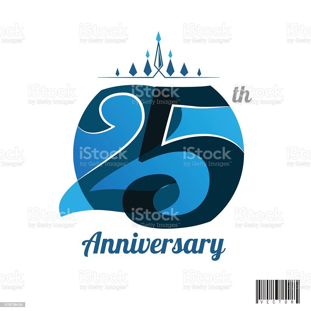 25 years anniversary logo and symbol design vector art illustration