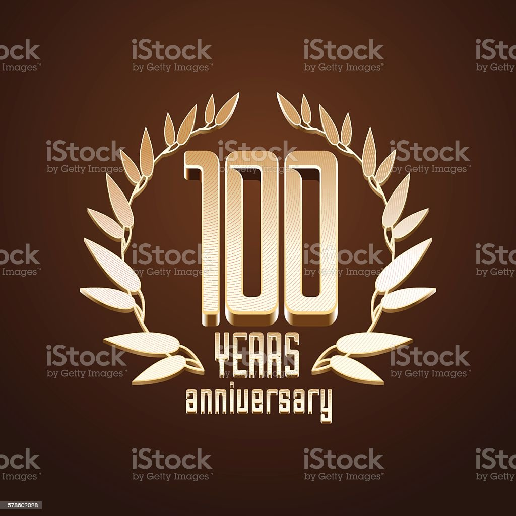 100 years anniversary vector icon vector art illustration