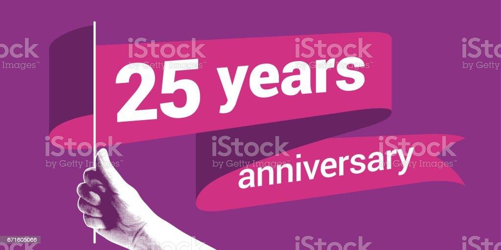 25 years anniversary vector icon vector art illustration