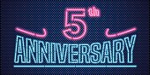 5 years anniversary vector illustration, banner, flyer