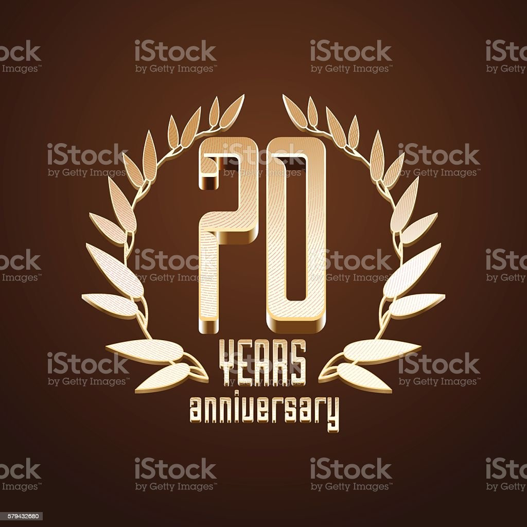 70 years anniversary vector licon vector art illustration