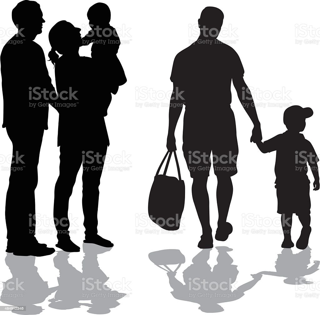 Years Go By With Children vector art illustration