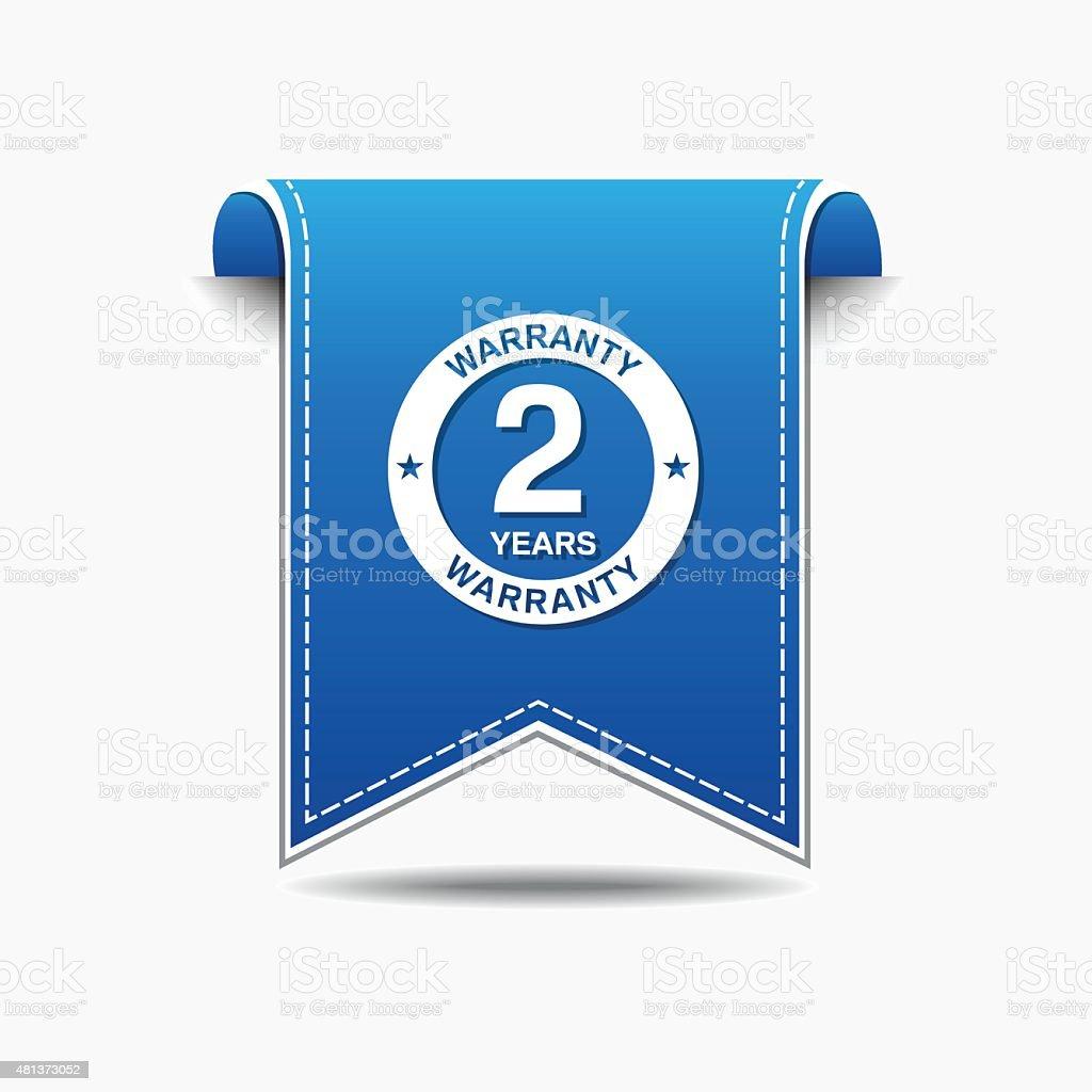 2 Years Warranty Blue Vector Icon Design vector art illustration