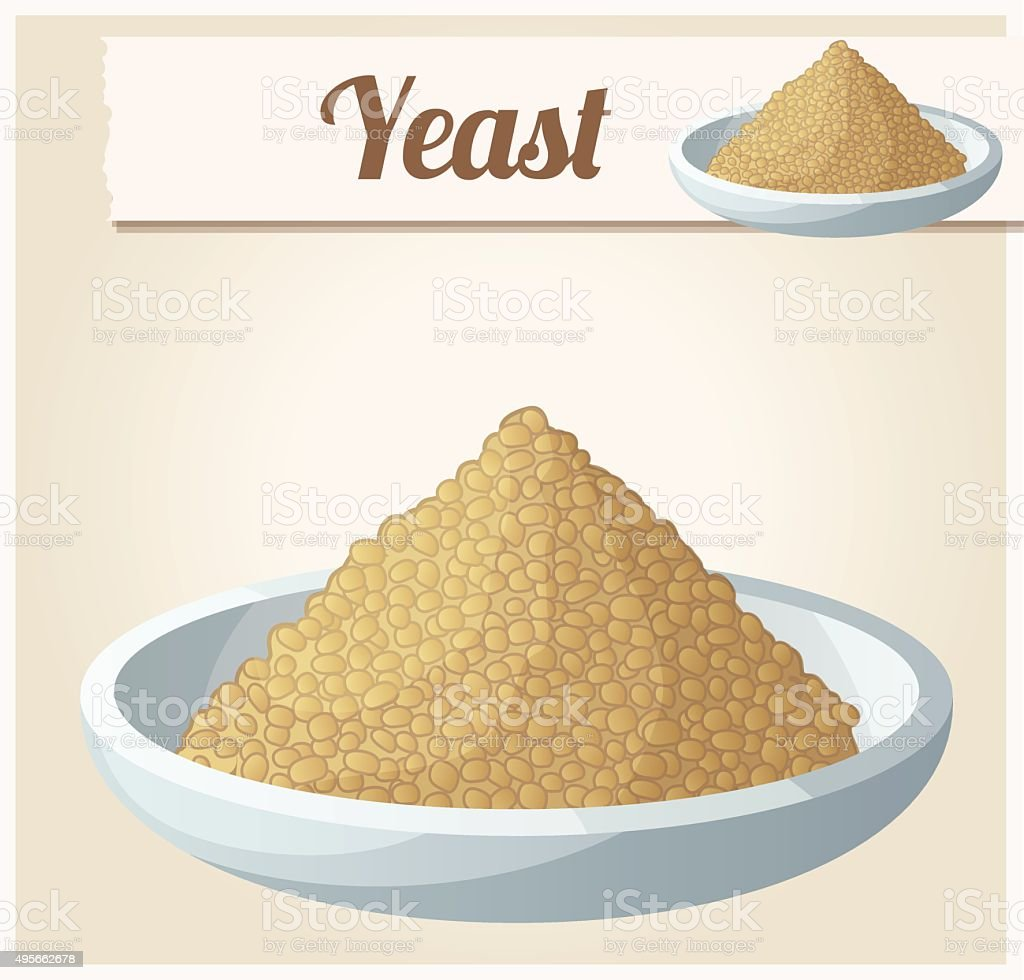 Yeast. Detailed Vector Icon vector art illustration