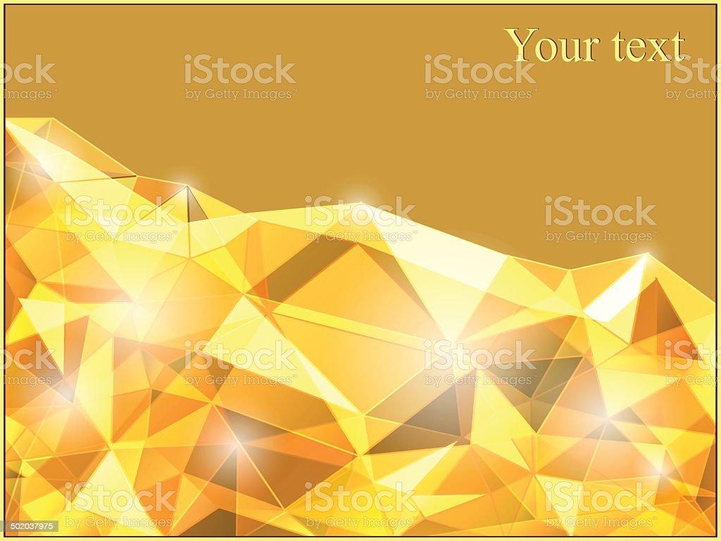 Yellow abstract background vector art illustration