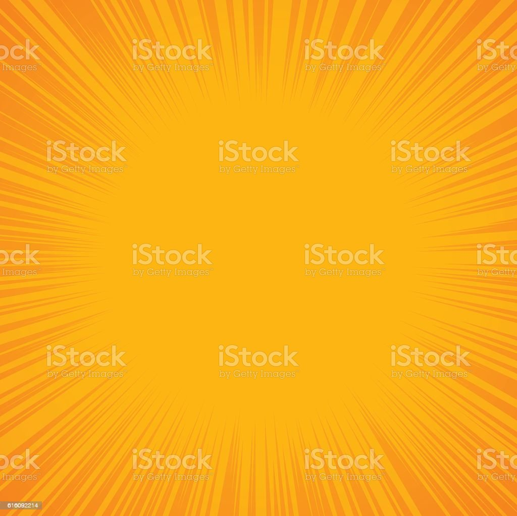 Yellow Abstract Burst Background vector art illustration