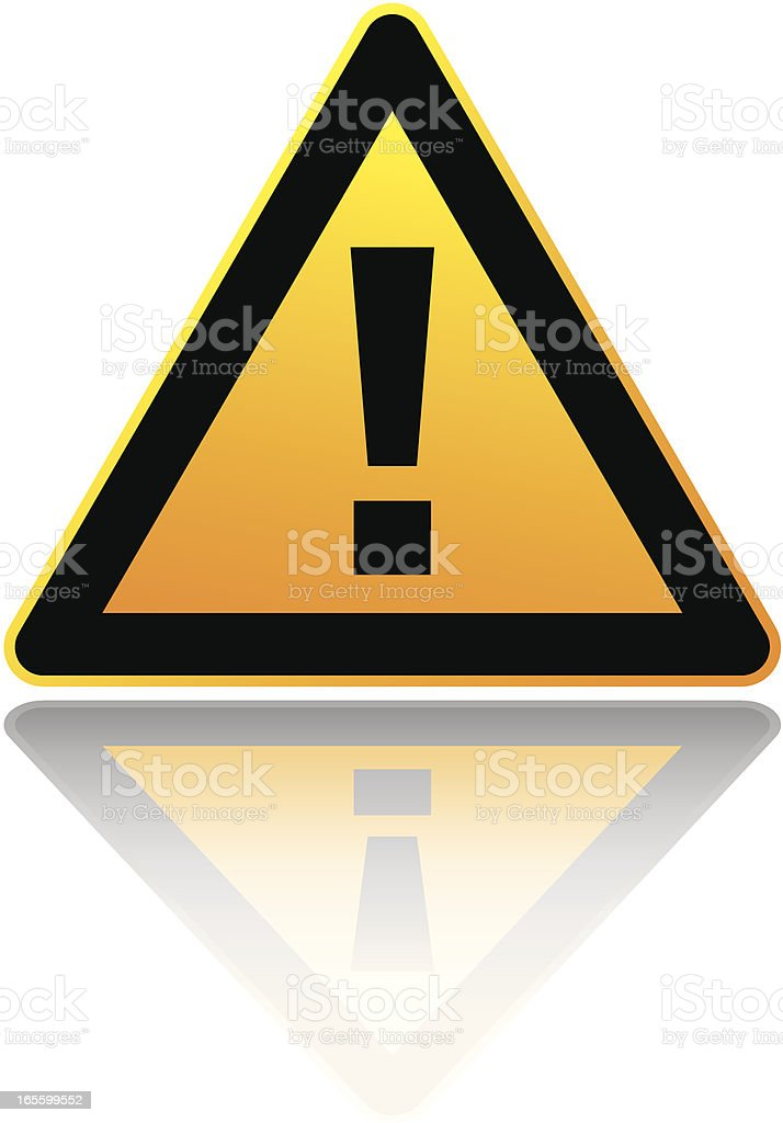 A yellow and black warning sign royalty-free stock vector art