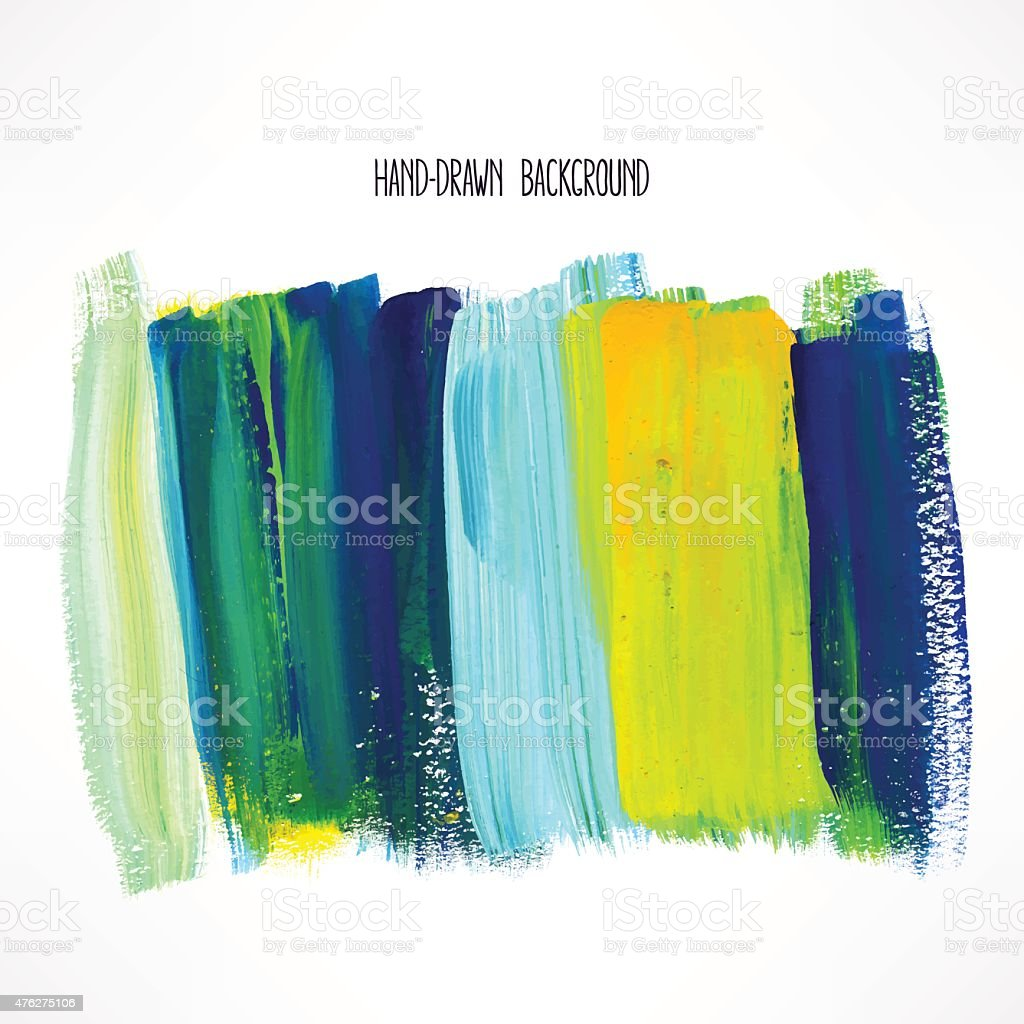 yellow and blue strokes vector art illustration